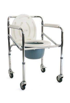 Καρέκλα Τροχήλατη Με WC Ρυθμιζόμενου Ύψους