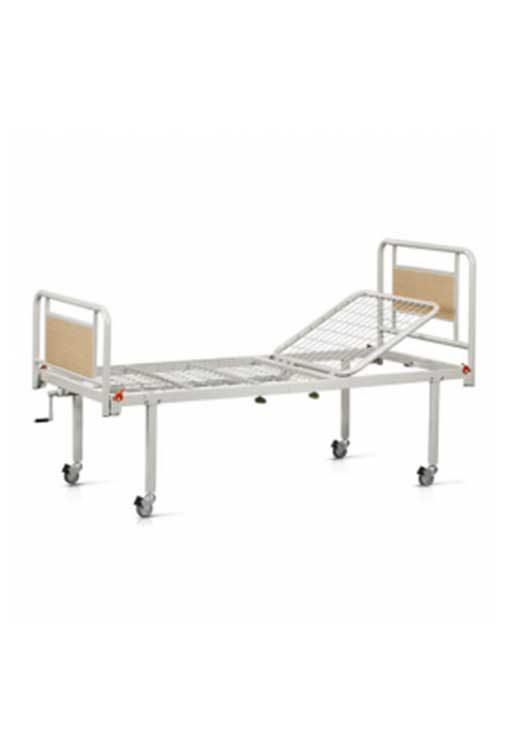 Νοσοκομειακό Κρεβάτι Μονόσπαστο Με Ρόδες