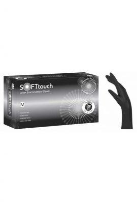 Γάντια Latex Soft Touch Μαύρο Χωρίς Πούδρα