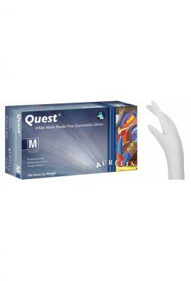 Γάντια Νιτριλίου Aurelia Quest Λευκό Χωρίς Πούδρα