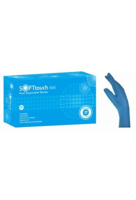 Γάντια Βινυλίου Μπλε Με Πούδρα