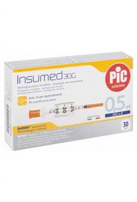 Σύριγγες PIc 0,5ml Ινσουλίνης