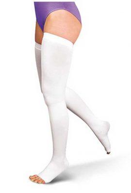 Κάλτσες Ριζομηρίου Anti-Embolism Με Σιλικόνη 18-24 mmHg - Λευκό