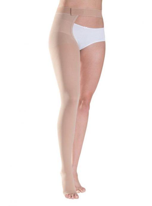 Κάλτσες Ιατρικές Διαβαθμισμένης Συμπίεσης Sigvaris Cotton 2 Ριζομηρίου Με Ζώνη
