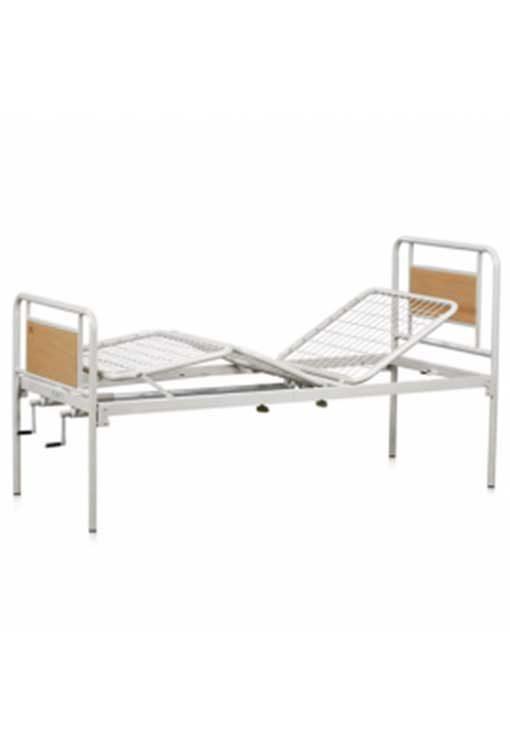 Νοσοκομειακό Κρεβάτι Χειροκίνητο Με Μανιβέλες